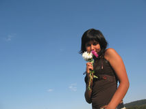 Odeur de fleur Photographie stock libre de droits