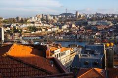 Odgórnego widoku stary śródmieście Porto, Portugalia - Podróż obraz stock