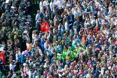 Odgórny widok na tłumu ludzie na Nieśmiertelnym pułku marszu artykule wstępnym obraz royalty free