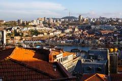 Odgórny widok Porto stary śródmieście, Portugalia obraz royalty free