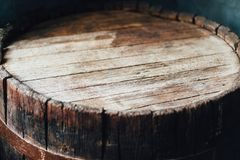 Odgórna strona drewniana baryłka Fotografia Royalty Free