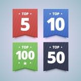 Odgórne ratingowe odznaki ilustracji