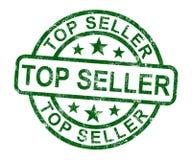 Odgórnego sprzedawcy znaczek Pokazuje Najlepszy produkty Lub usługa Obraz Royalty Free