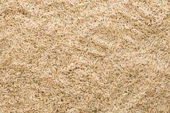 Odgórnego widoku brown ryż tekstury zakończenie up Obrazy Stock