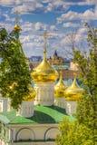 Odgórnego widoku centrum Nizhny Novgorod zdjęcia royalty free