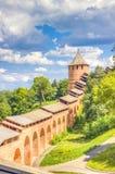 Odgórnego widoku centrum Nizhny Novgorod zdjęcie royalty free