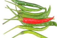 Odgórnego widoku chili pieprz zdjęcia royalty free