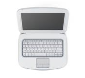 Odgórnego widoku 3d renderingu laptop Fotografia Stock