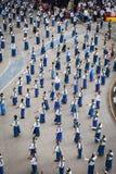 Odgórnego widoku Dziejowy obrazek ceremonia taniec bogini Thailand 2018 Fotografia Royalty Free