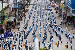 Odgórnego widoku Dziejowy obrazek ceremonia taniec bogini Thailand 2018 Zdjęcia Royalty Free
