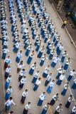 Odgórnego widoku Dziejowy obrazek ceremonia taniec bogini Thailand 2018 Obrazy Royalty Free