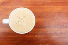 Odgórnego widoku filiżanka kawy Obrazy Royalty Free