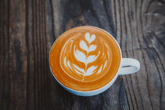 Odgórnego widoku latte Fotografia Stock