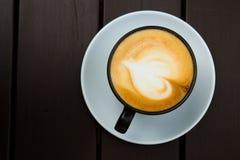 Odgórnego widoku latte Zdjęcie Stock
