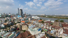 Odgórnego widoku panorama Ho Chi Minh miasto Obrazy Stock