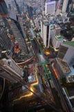 Odgórnego widoku pejzaż miejski Zdjęcia Stock