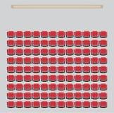 Odgórnego widoku przedstawienie Seat w teatrze ilustracji