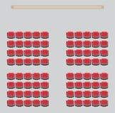 Odgórnego widoku przedstawienie Seat w teatrze ilustracja wektor