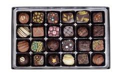 Odgórnego widoku pudełko galanteryjny czekolada cukierek Obrazy Royalty Free