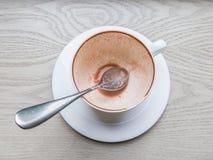 Odgórnego widoku pusta filiżanka kakao Zdjęcie Royalty Free