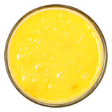 Odgórnego widoku Surowy Rozdrapany jajko w Szklanym pucharze Zdjęcia Stock