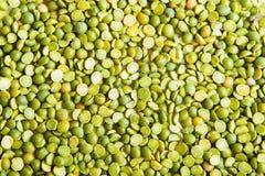 Odgórnego widoku tło zielonych grochów puls Fotografia Royalty Free