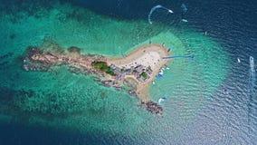 Odgórnego widoku Tropikalna wyspa, widok z lotu ptaka Koh Khai wyspa Zdjęcia Stock