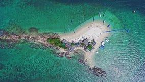 Odgórnego widoku Tropikalna wyspa, widok z lotu ptaka Koh Khai wyspa Obraz Stock