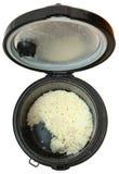 Odgórnego widoku Używać Ryżowa kuchenka zdjęcie stock