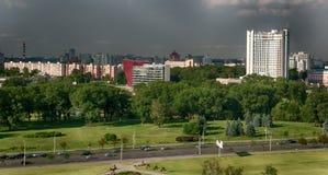 Odgórnego widoku wieżowowie w Russia zdjęcia royalty free