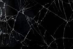 Odgórnego widoku wiszącej ozdoby ekranu tekstury pękający łamający szklany tło zdjęcie royalty free