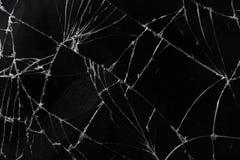 Odgórnego widoku wiszącej ozdoby ekranu tekstury pękający łamający szklany tło Zdjęcie Stock