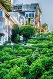 Odgórni miasto widoki od lombard ulicy w San Francisco California Zdjęcie Stock