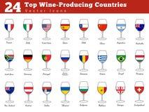 Odgórni wina inscenizowania kraje royalty ilustracja