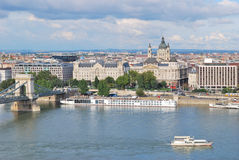 odgórny Budapest widok Obraz Royalty Free