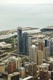 Odgórny Chicago z jeziorem, usa Zdjęcia Stock