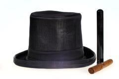 Odgórny kapelusz i cygaro Obrazy Royalty Free
