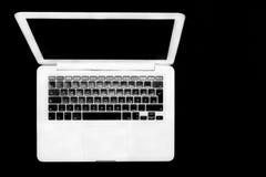 Odgórny laptopu widok Zdjęcia Stock