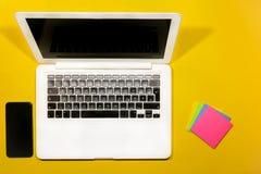 Odgórny laptopu widok Obraz Royalty Free