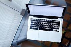 odgórny laptopu widok Obraz Stock