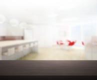 Odgórny stół tło w biurze Obraz Royalty Free