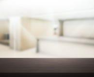 Odgórny stół tło w biurze Zdjęcie Royalty Free