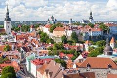odgórny Tallinn stary widok Obraz Royalty Free