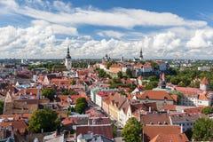 odgórny Tallinn stary widok Zdjęcia Stock