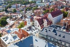 odgórny Tallinn stary widok Zdjęcie Royalty Free
