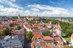 odgórny Tallinn stary widok Obraz Stock