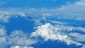 Odgórny widok śnieżni wzgórza Obraz Royalty Free