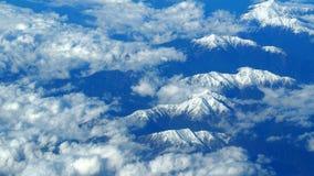 Odgórny widok śnieżni wzgórza Zdjęcia Royalty Free