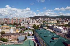 Odgórny widok śródmieście Chita miasto Zdjęcia Stock