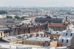 Odgórny widok święty Petersburg od świętego Isaac ` s katedry w letnim dniu Rosja Obrazy Stock